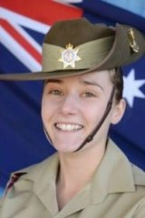 Soldier Natasha Rowley, who died at a buck's party in Melbourne on July 16.
