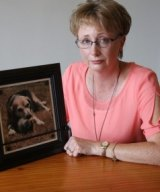Christine Manga is mourning the loss of her pet beagle Rosie who died after eating cake containing xylitol.