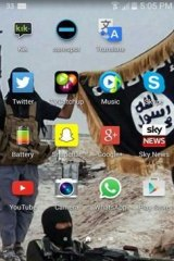 A photograph of the home screen of a smartphone believed to belong to the boy.