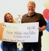 Lightning strike survivor Peter McCathie has now won half a million dollars in the lottery.