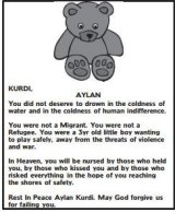 Death notice in SMH for Aylan.