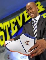 His own kicks: Stephon Marbury's 'Starbury' shoes didn't last very long on the market.