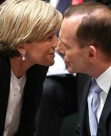 Julie Bishop and Tony Abbott during happier times in Parliament House.