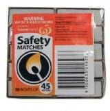 Striking one stick can ignite the entire box of Woolworths Homebrand safety matches.