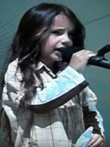 Six-year-old Xiuhtezcatl Martinez gives a speech calling on children to protect the environment.