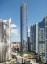 An artist's impression of Sydney's proposed tallest residential tower.