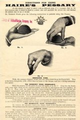 Advertisement for Haire's pessary contraceptive.