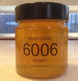 The postcode that began it all: 6006 honey comes from Mr Faherty's own backyard hive in North Perth.