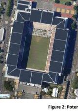 Solar panels on Suncorp Stadium
