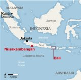 Nusakambangan on the map.