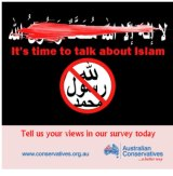 The Australian Conservatives image that has offended Muslims.