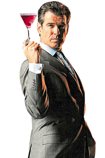 Shakes, not stirred: Pierce Bosnan as James Bond.