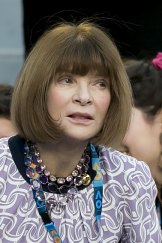 Anna Wintour in a rare photo without her trademark Chanel sunglasses at the Australian Open.