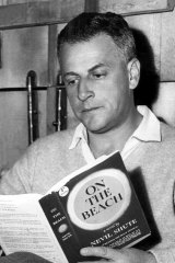 Director Stanley Kramer with a copy of Nevil Shute's novel.