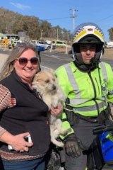 Sergeant Paul Kelly reunites Julie Beecham with Billie.