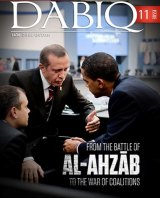 In Islamic State's sights: Turkish President Recep Tayyip Erdogan with his US counterpart Barack Obama on the cover of the IS magazine <i>Dabiq</i> in August.