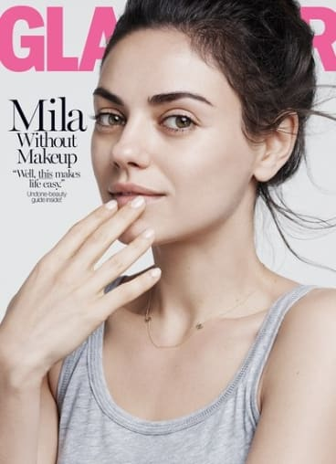 Mila Kunis on the cover of <i>Glamour</i> magazine.