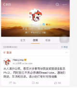 Wu Wei was accused of posting the comments under the username Pekojima on Weibo.