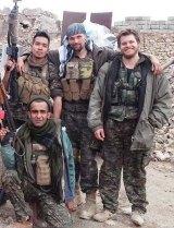 Australian recruit,  Ashley Johnston (far right), who was killed fighting Islamic State militants.
