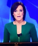 Fashion faux pas: Channel Ten's news reader Natarsha Belling wearing the Scanlan Theodore jacket which has gone viral.