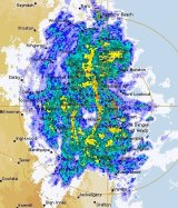 The Bureau of Meteorology has reported dangerous thunderstorms near the Brisbane CBD and northern suburbs.