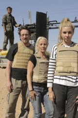 War zone: Andrew Jackson, Kim Vuga and Nicole Judge after their close call with Islamic State.