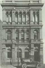 The Bank of Queensland's Adelaide Street headquarters in 1921.