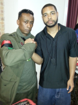 Public Enemy co-founder Professor Griff, left, with suspected Dallas gunman Micah Johnson.