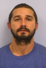 A mugshot from Shia LaBeouf's 2015 arrest.