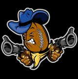 Logo of the Brisbane Outlaws in the National Gridiron League.