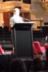 Sarah Haynes received a strong response to her controversial speech.
