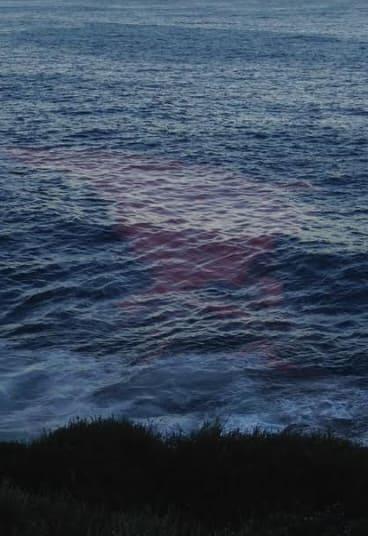 Red tide near Bronte, Sunday evening.