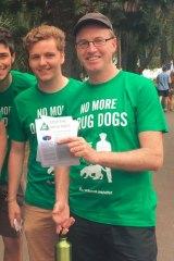 Hayden Williams (left) with NSW Greens MP David Shoebridge.