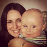 Buried: Bianka O'Brien with her child Jude.