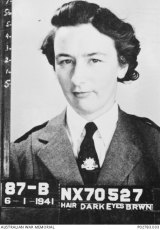 The enlistment photo of Sister Kath Neuss.