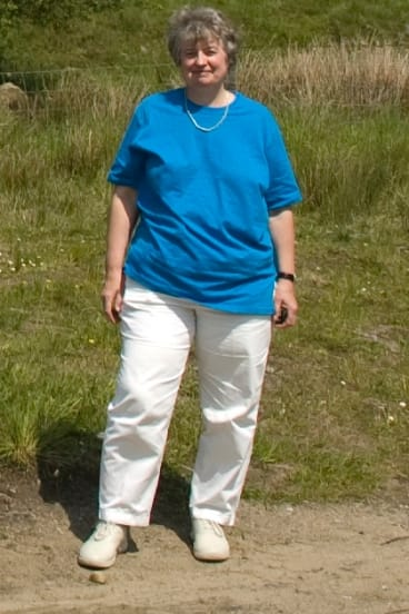 Anne Ashford in 2005, when she was overweight and her joint pains were getting worse.