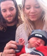 Kate, Aaron and baby Mason, who was born in August.