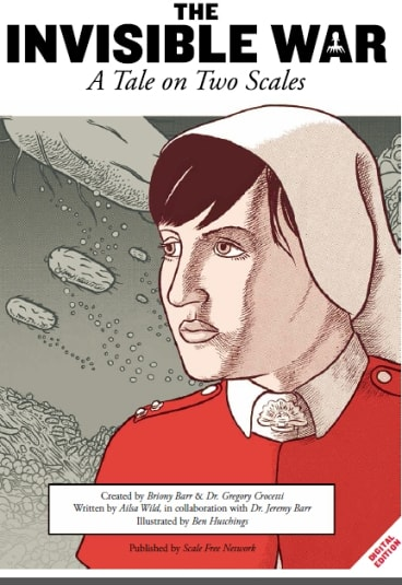 Sister Annie Barnaby, the central charachter in the science-history graphic novel set in World War I, The Invisible War.