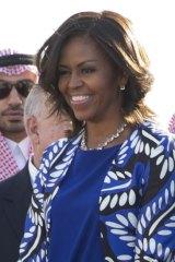 Michelle Obama in Saudi Arabia.