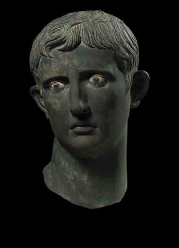 Head of Augustus, 27-25 BCE.