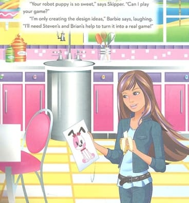 Only the design: Mattel's image of a female computer engineer.