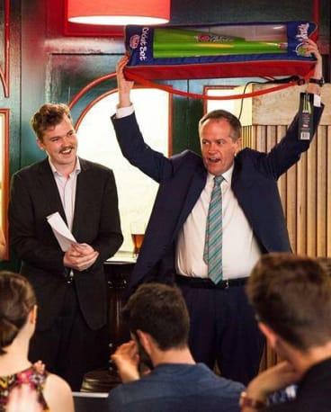 Ben Kremer pictured with Opposition Leader Bill Shorten in Canberra.