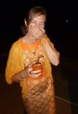 Hue go, girl: Robyn Lees-West is mad about the colour orange.