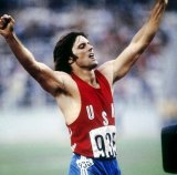 Bruce Jenner in his days as a gold-medal-winning track star.