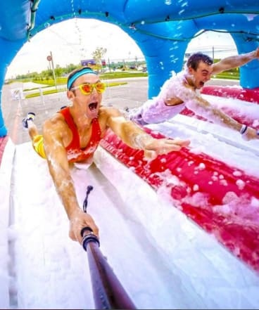 The Ridiculous Obstacle Challenge Race is a five kilometre fun run with 'crazy elements' and 'ridiculous obstacles'.