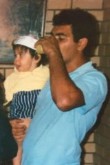 David Hill with his young son David Dungay Hill in the early 1990s.