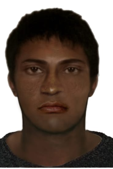 A computer-generated image of the man wanted over an indecent assault at St Kilda Festival.