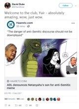 US white supremacist David Duke praising the meme.