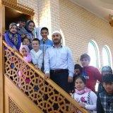 Sunshine Mosque imam Mustafa Asmaci with worshippers.