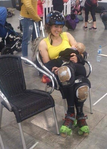 'Spider Lilly' gets the job done during a break from roller derby.